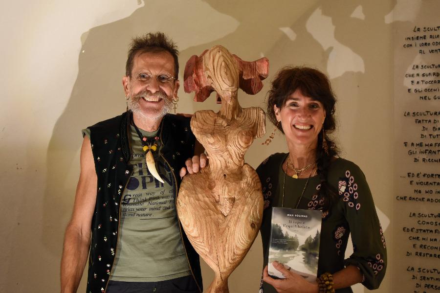 """Il Bosco dei Talenti: Max Solinas. Diana Tedoldi con Max Solinas e il libro """"Il lupo e l'equilibrista"""""""