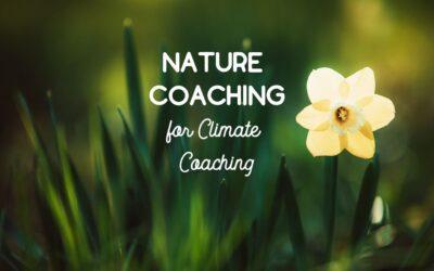 Nature coaching per il climate coaching